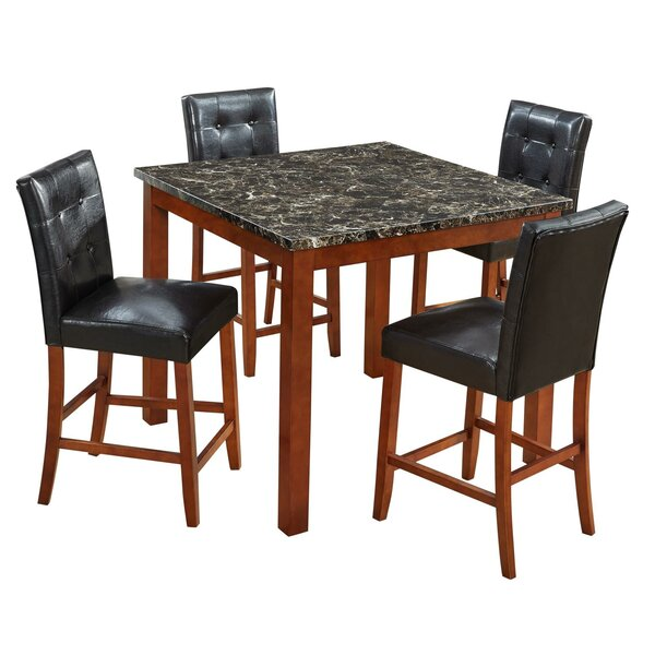 Kajetan 5 Piece Counter Height Dining Set by Latitude Run Latitude Run