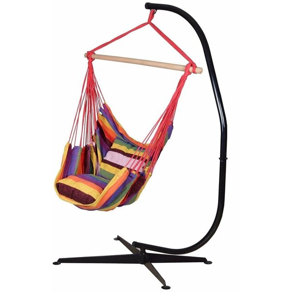 Pruitt Cotton Chair Hammock with Stand by Bungalow Rose