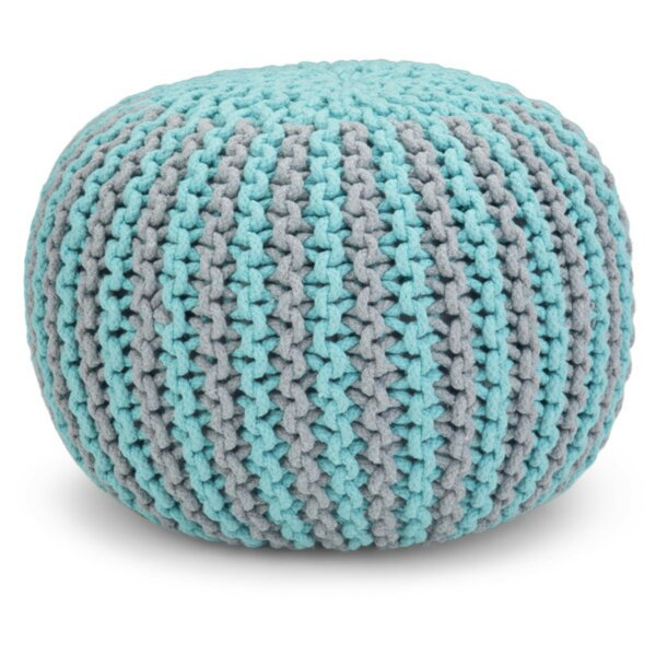 Tigner Hand Knit Round Pouf by Bungalow Rose