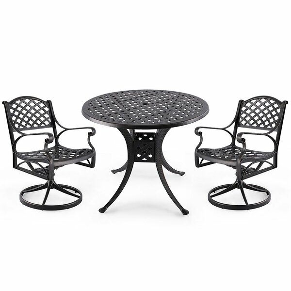 Welland 3 Piece Bistro Set by Charlton Home