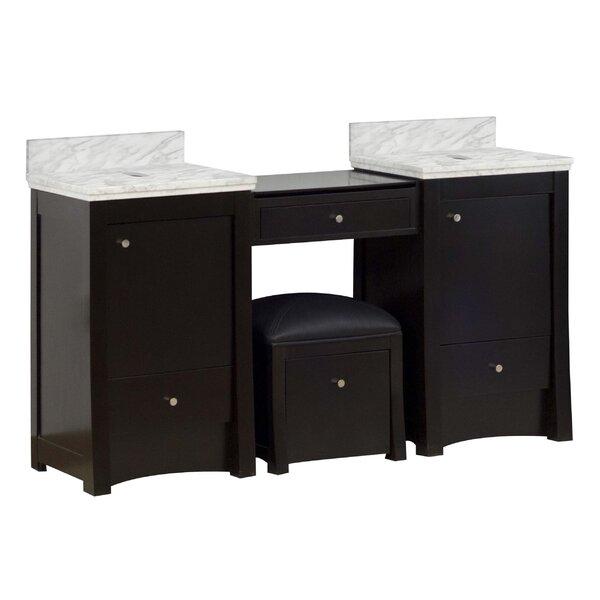 59 Double Bathroom Vanity Base Only