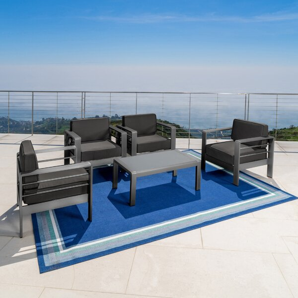 Crosstown 5 Piece Conversation Set with Cushions by Brayden Studio