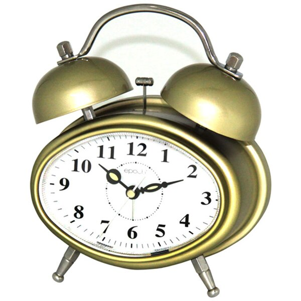 Double Bell Melody Alarm Clock by Maples Clock