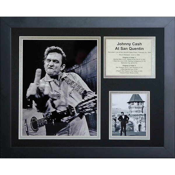 Johnny Cash at San Quentin Framed Photographic Print by Legends Never Die