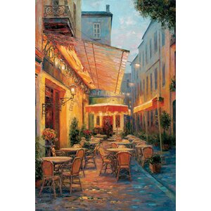 Café Van Gogh 2008, Arles France Painting Print on Wrapped Canvas by Charlton Home