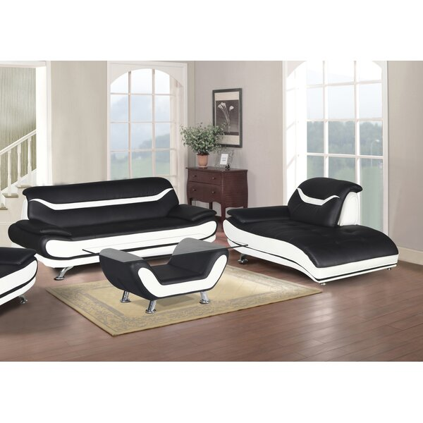 Hamon 3 Piece Living Room Set by Orren Ellis