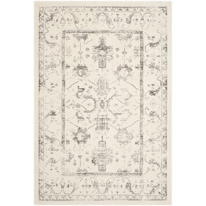 Porcello Ivory/Light Gray Area Rug
