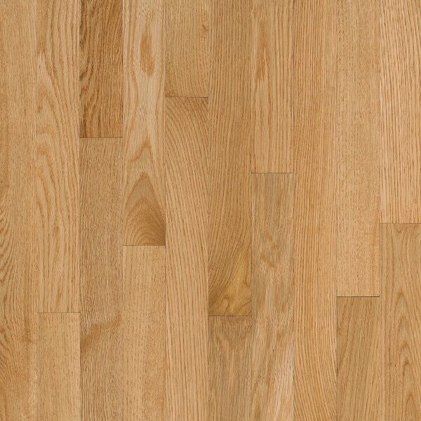 2-1/4 Solid Oak Hardwood Flooring in High Glossy Natural by Bruce Flooring