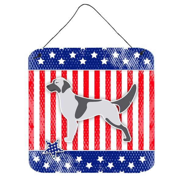 Patriotic English Setter Metal Wall Décor by The Holiday Aisle