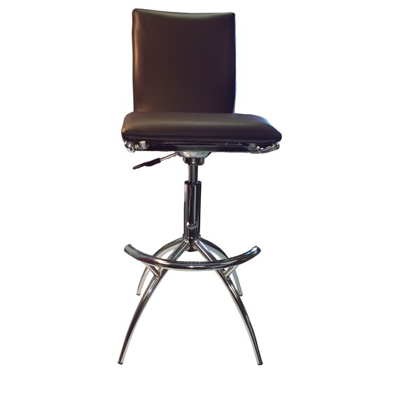 Adjustable Height Swivel Bar Stool (Set of 2) by New Spec Inc