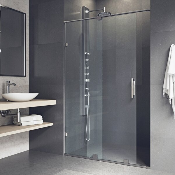 Ryland 64 x 73 Single Sliding Frameless Shower Door by VIGO