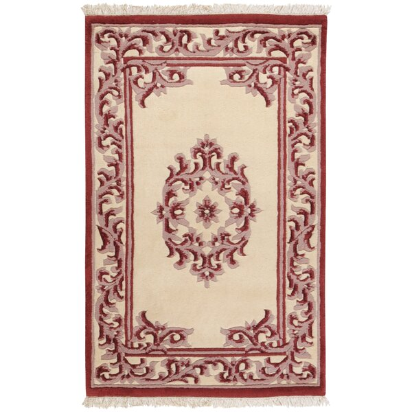 Bengal Burgundy/Ivory Area Rug by Surya