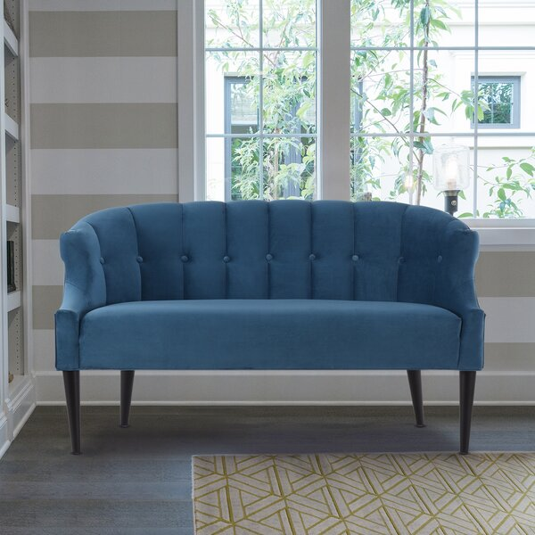 Shop A Great Selection Of Sergio Recessed Arm Settee by George Oliver by George Oliver