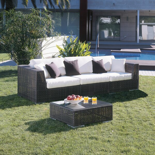 Soho Patio Sofa with Sunbrella Cushions by Hospitality Rattan