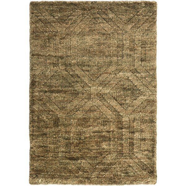Limewood Hand-Knotted Dark Drown Area Rug by Darby Home Co