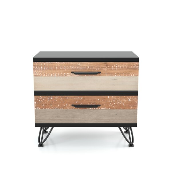 Carlisa Transitional 2 Drawer Nightstand by Union Rustic Union Rustic