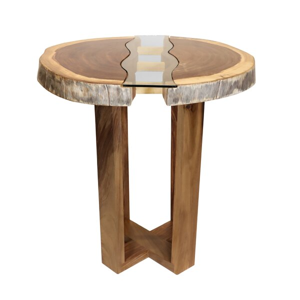 Kroeker Live Edge Pub Solid Wood Dining Table by Union Rustic