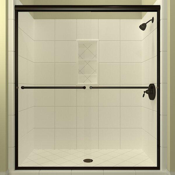 Leser Bypass Semi-Frameless Shower Door by Arizona Shower Door
