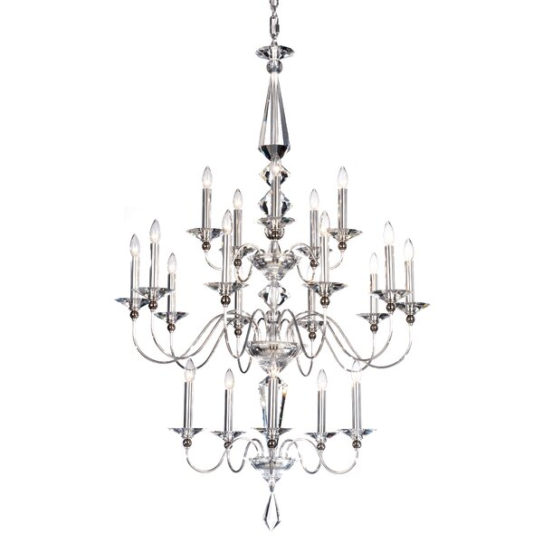 Jasmine 20 - Light Candle Style Tiered Chandelier by Schonbek Schonbek