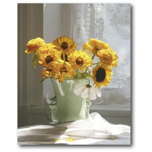 'Black-eyed Susan' Drawing Print on Wrapped Canvas by Courtside Market