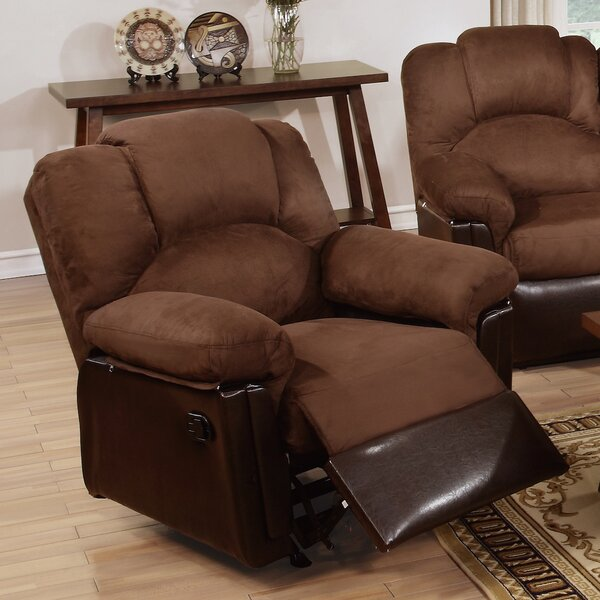 Ethan Leather Manual Rocker Recliner by Infini Furnishings