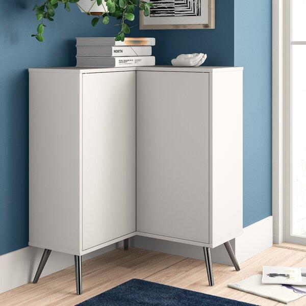 Review Raynham 2 Door Corner Accent Cabinet
