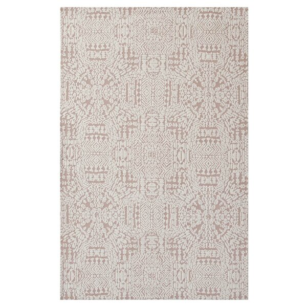 Burlison Ivory/Cameo Rose Area Rug by Bungalow Rose