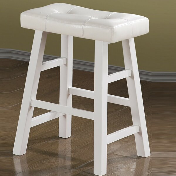 Paolini Rubber Wood Bar Stool (Set of 2) by Winston Porter