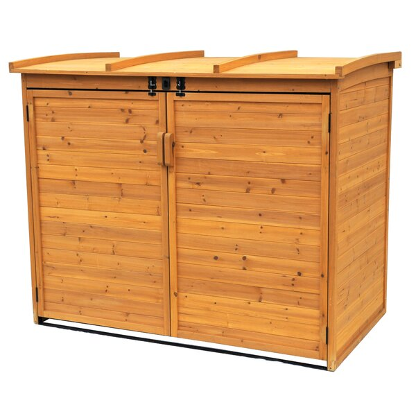 Refuge 5 ft. 6 in. W x 3 ft. 2 in. D Solid Wood Horizontal Garbage Shed by Leisure Season