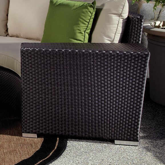 Aramingo Wicker Side Table by Wrought Studio