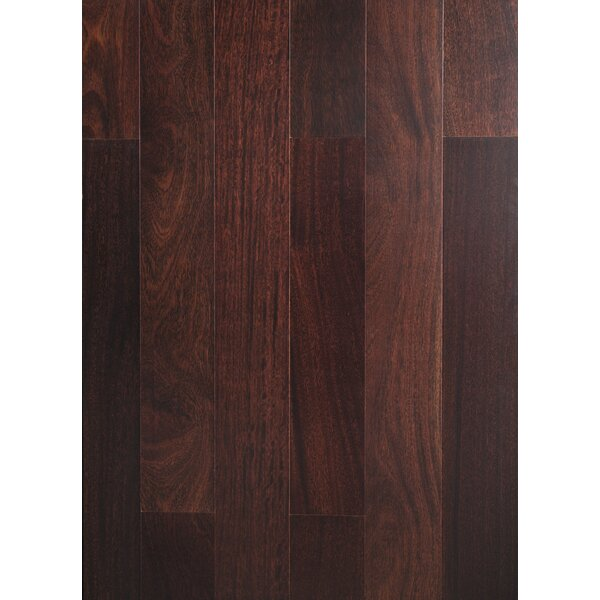 Ashton 3-3/4 Solid Teak Hardwood Flooring in Espresso by Welles Hardwood