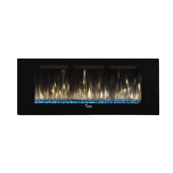 Swaney Linear Wall Mounted Electric Fireplace by Orren Ellis