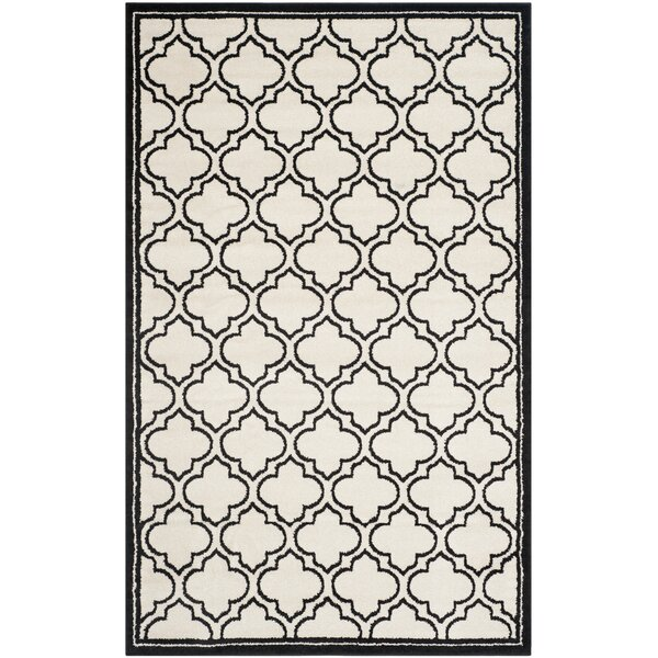Maritza Ivory/Anthracite Outdoor Area Rug by Willa Arlo Interiors