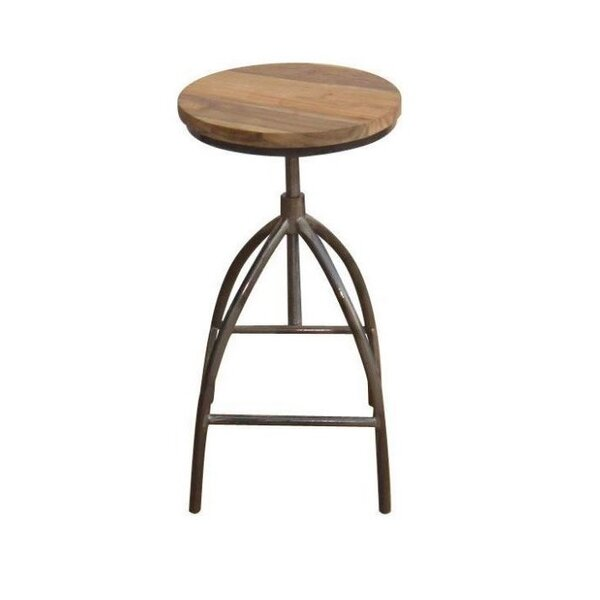 Andice Adjustable Height Bar Stool by Williston Forge