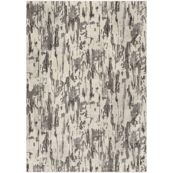 Hyacinth Modern Abstract Beige/Gray Area Rug by Wrought Studio
