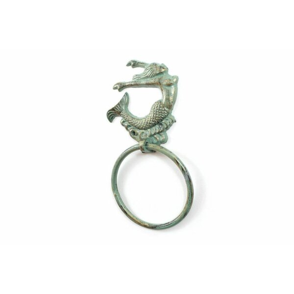 Cast Iron Arching Mermaid Towel Ring by Handcrafted Nautical Decor