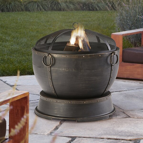 Athena Steel Wood Burning Fire Pit by Pleasant Hearth