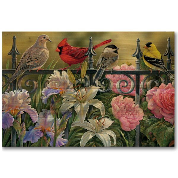 Songbird Elements by Rosemary Millette Graphic Art Plaque by WGI-GALLERY