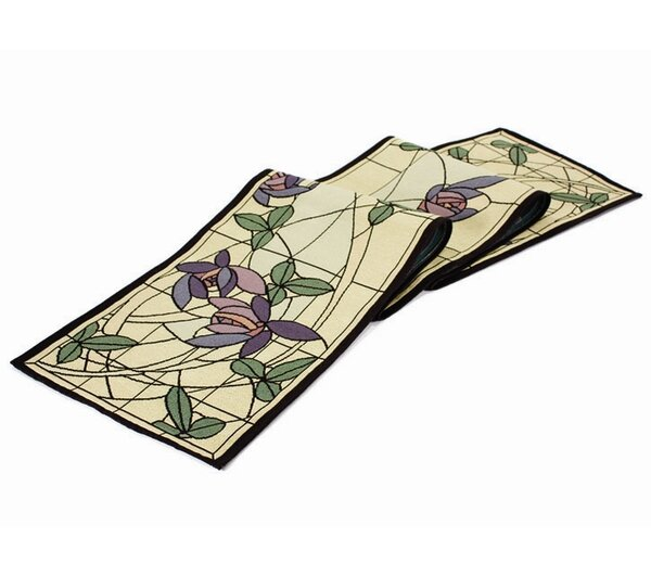 Arts and Crafts Flowers and Vines Table Runner by Rennie & Rose Design Group
