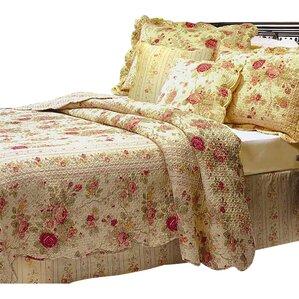 abbigail cotton reversible quilt set