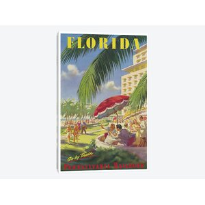 'Florida - Pennsylvania Railroad' Vintage Advertisement on Canvas by East Urban Home