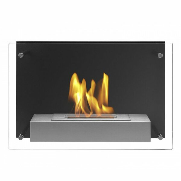 Carrette Wall Mounted Ethanol Fireplace By Orren Ellis