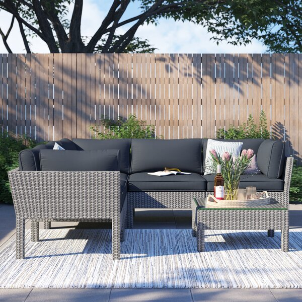 Hannah 6 Piece Sectional Seating Group with Cushions by Foundstone