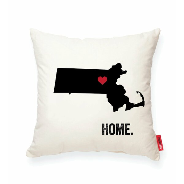 Pettry Massachusetts Cotton Throw Pillow by Wrought Studio