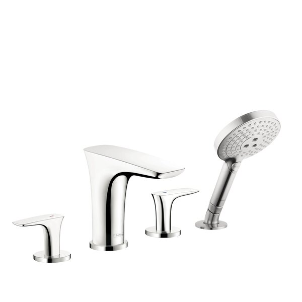 Puravida Double Handle Deck Mounted Roman Tub Faucet Trim with Diverter and Handshower by Hansgrohe Hansgrohe