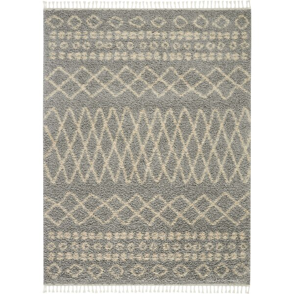 Iverson Moroccan Tribal Gray/Beige Area Rug by Union Rustic