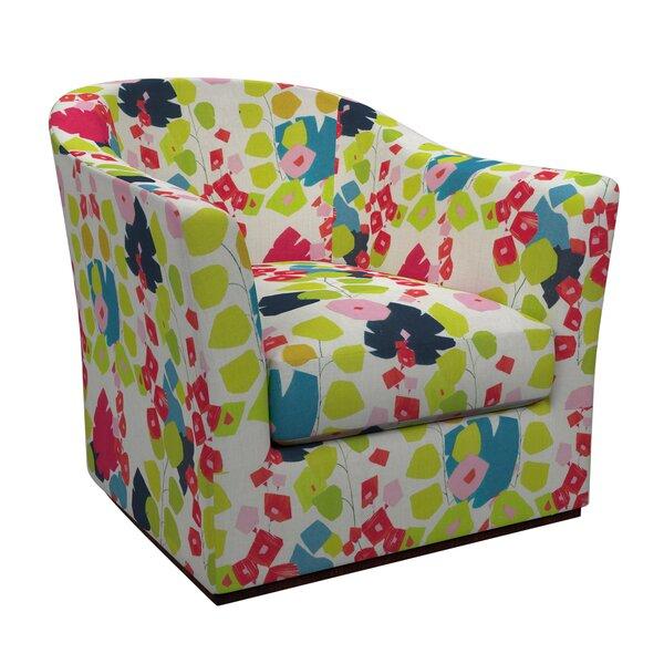 Thunderbird Swivel Barrel Chair by Annie Selke Home Annie Selke Home