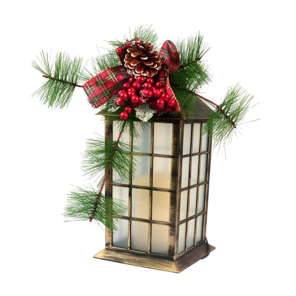 Bow and Grass Plastic Lantern by The Holiday Aisle
