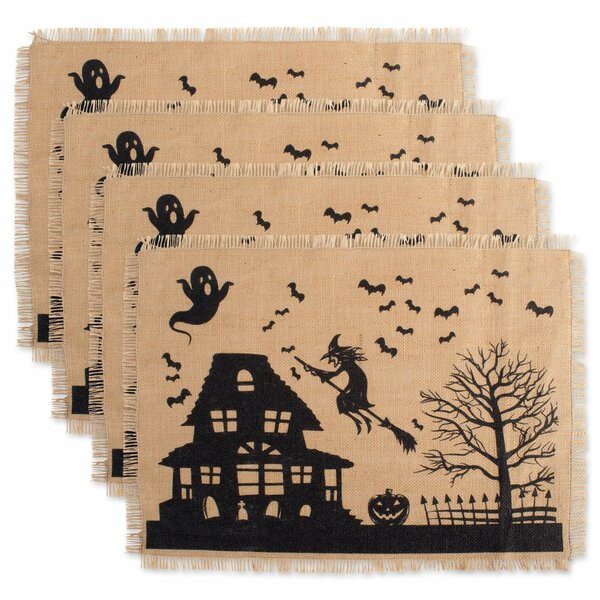 Mccardle Haunted House Kitchen 19 Placemat (Set of 4) by The Holiday Aisle