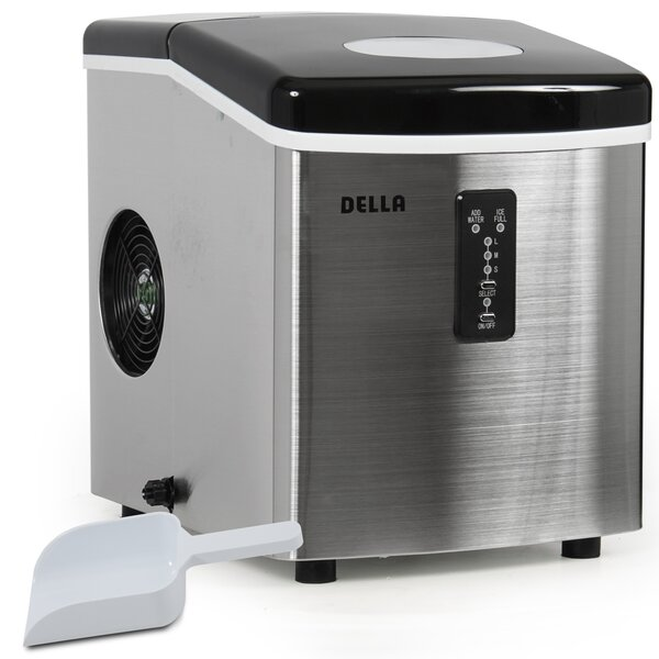 35 lb. Daily Production Portable Ice Maker by Della